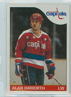 1985-86 Topps Hockey Alan Haworth Washington Capitals Near-Mint to Mint