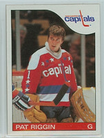 1985-86 Topps Hockey Pat Riggin Washington Capitals Near-Mint to Mint