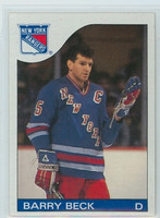 1985-86 Topps Hockey Barry Beck New York Rangers Near-Mint to Mint