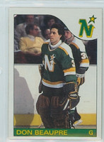 1985-86 Topps Hockey Don Beaupre Minnesota North Stars Near-Mint to Mint