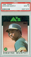 1986 Topps Baseball 8 Dwayne Murphy Oakland Athletics PSA 9 Mint
