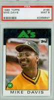 1986 Topps Baseball 165 Mike Davis Oakland Athletics PSA 9 Mint