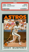 1986 Topps Baseball 282 Jerry Mumphrey Houston Astros PSA 9 Mint