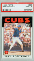 1986 Topps Baseball 308 Ray Fontenot Chicago Cubs PSA 9 Mint