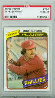 1980 Topps Baseball 270 Mike Schmidt Philadelphia Phillies PSA 9 Mint