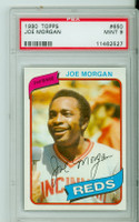 1980 Topps Baseball 650 Joe Morgan Cincinnati Reds PSA 9 Mint