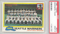 1981 Topps Baseball 672 Mariners Team PSA 9 Mint