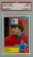 1983 Topps Baseball 404 Gary Carter All-Star Montreal Expos PSA 9 Mint