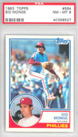 1983 Topps Baseball 564 Sid Monge Philadelphia Phillies PSA 8 Near Mint to Mint