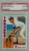 1984 Topps Baseball 8 Don Mattingly ROOKIE New York Yankees PSA 9 Mint
