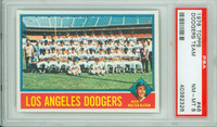 1976 Topps Baseball 46 Dodgers Team PSA 8 Near Mint to Mint
