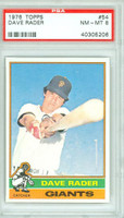 1976 Topps Baseball 54 Dave Rader San Francisco Giants PSA 8 Near Mint to Mint