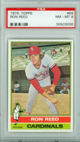 1976 Topps Baseball 58 Ron Reed St. Louis Cardinals PSA 8 Near Mint to Mint