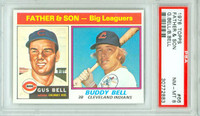 1976 Topps Baseball 66 Father Son - Bell PSA 8 Near Mint to Mint