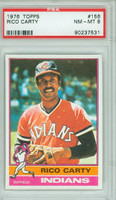 1976 Topps Baseball 156 Rico Carty Cleveland Indians PSA 8 Near Mint to Mint