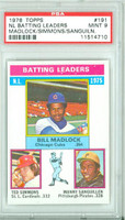 1976 Topps Baseball 191 NL Batting Leaders PSA 9 Mint