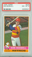 1976 Topps Baseball 379 Ken Boswell Houston Astros PSA 8 Near Mint to Mint