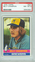 1976 Topps Baseball 501 Billy Champion Milwaukee Brewers PSA 8 Near Mint to Mint