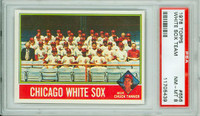 1976 Topps Baseball 656 White Sox Team PSA 8 Near Mint to Mint