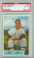 1954 Bowman Baseball 162 Ted Lepcio Boston Red Sox PSA 6 Excellent to Mint
