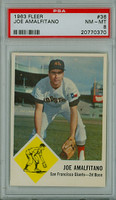 1963 Fleer Baseball 36 Joe Amalfitano Houston Colts PSA 8 Near Mint to Mint