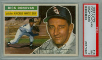1956 Topps Baseball 18 Dick Donovan Chicago White Sox PSA 7 Near Mint Grey Back