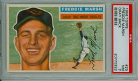 1956 Topps Baseball 23 Freddie Marsh Baltimore Orioles PSA 7 Near Mint Grey Back