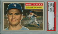 1956 Topps Baseball 40 Bob Turley New York Yankees PSA 5 Excellent Grey Back