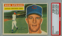1956 Topps Baseball 66 Bob Speake Chicago Cubs PSA 7 Near Mint Grey Back
