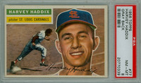 1956 Topps Baseball 77 Harvey Haddix St. Louis Cardinals PSA 8 Near Mint to Mint Grey Back