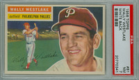 1956 Topps Baseball 81 Wally Westlake Philadelphia Phillies PSA 7 Near Mint White Back