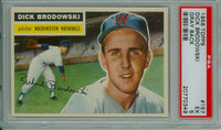 1956 Topps Baseball 157 Dick Brodowski Washington Senators PSA 5 Excellent Grey Back