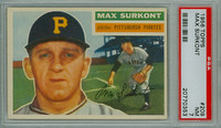 1956 Topps Baseball 209 Max Surkont Tough Series Pittsburgh Pirates PSA 7 Near Mint