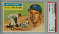 1956 Topps Baseball 315 Milt Bolling Boston Red Sox PSA 7 Near Mint