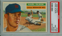 1956 Topps Baseball 322 Karl Olson Washington Senators PSA 8 OC