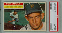 1956 Topps Baseball 325 Don Liddle New York Giants PSA 6 Excellent to Mint