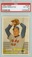 1957 Topps Baseball 378 Elmer Singleton Chicago Cubs PSA 6 Excellent to Mint