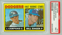 1967 Topps Baseball 12 Dodgers Rookies PSA 7 Near Mint