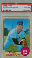 1968 Topps Baseball 26 Darrell Brandon Boston Red Sox PSA 8 Near Mint to Mint