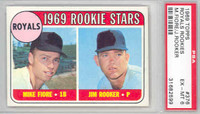 1969 Topps Baseball 376 Royals Rookies PSA 6 Excellent to Mint