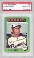1975 Topps Mini Baseball 431 Rod Gilbreath Atlanta Braves PSA 8 Near Mint to Mint