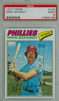 1977 Topps Baseball 140 Mike Schmidt Philadelphia Phillies PSA 9 Mint