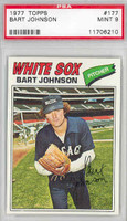 1977 Topps Baseball 177 Bart Johnson Chicago White Sox PSA 9 Mint