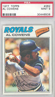 1977 Topps Baseball 262 Al Cowens Kansas City Royals PSA 9 Mint