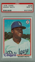 1978 Topps Baseball 228 Manny Mota Los Angeles Dodgers PSA 9 Mint