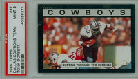 1985 Topps Football 37 Cowboys Team PSA 9 Mint