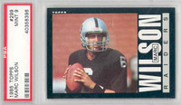 1985 Topps Football 299 Marc Wilson Oakland Raiders PSA 9 Mint