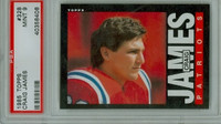 1985 Topps Football 328 Craig James ROOKIE New England Patriots PSA 9 Mint