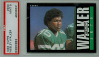 1985 Topps Football 350 Wesley Walker New York Jets PSA 9 Mint