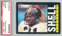 1985 Topps Football 362 Donnie Shell Pittsburgh Steelers PSA 9 Mint